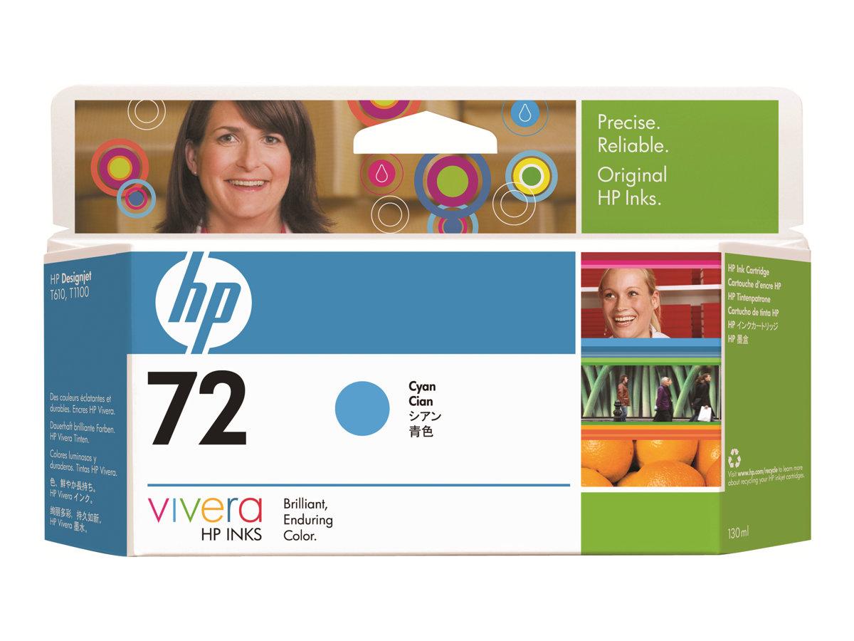 HP 72 xl - 130 ml - cyan - originale - cartouche d'encre