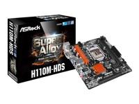 ASRock H110M-HDS Bundkort micro-ATX LGA1151 Socket H110 USB 3.0