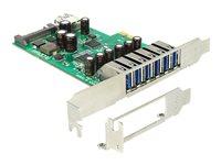 Delock PCI Express Card > 6 x external+, Delock PCI Express Card