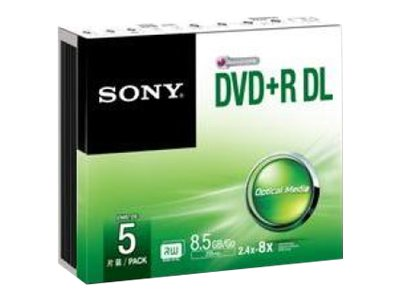 Sony - DVD+R DL x 5 - 8.5 GB - soportes de almacenamiento