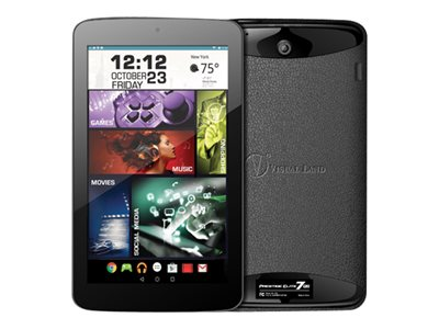 "Visual Land PRESTIGE Elite 7QS - Tablet - Android 5.0 (Lollipop) - 16 GB - 7"" (1024 x 600) - microSD slot - black"