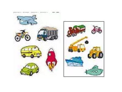 APLI kids Maxi - Adhésif décoratif - 24 gommettes -  véhicules