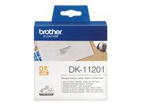 Brother DK-11201 Sort på hvid
