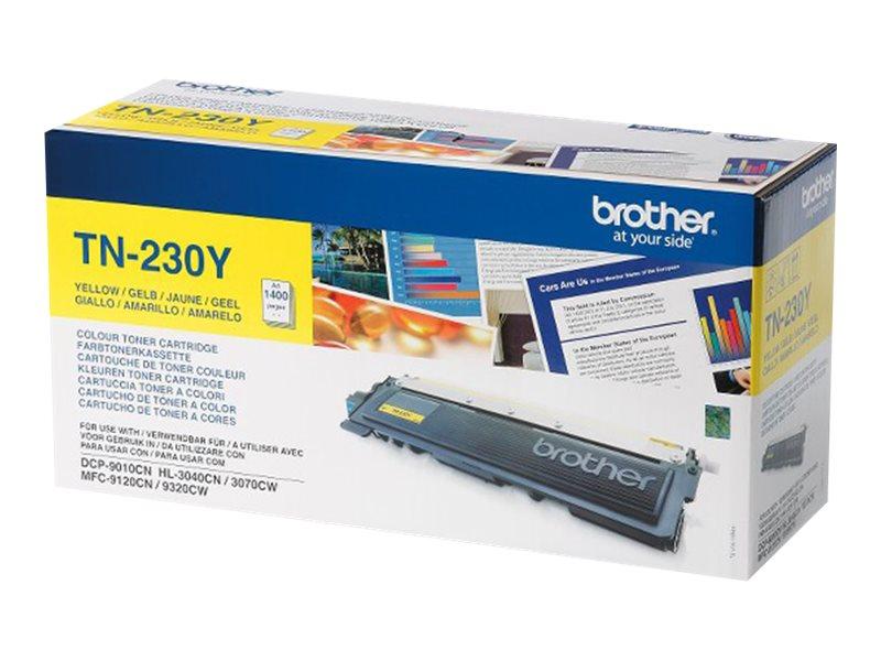 Brother TN230Y - jaune - originale - cartouche de toner