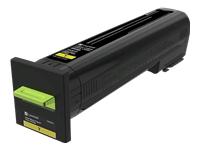 Lexmark - Yellow - original - toner cartridge LCCP, LRP - for Lexmark CS820, CX820, CX825, CX860