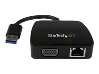 StarTech.com Mini station d'accueil / Mini-Dock USB 3.0 pour PC portable avec VGA - Adaptateur NIC USB 3.0 vers Gigabit Ethernet