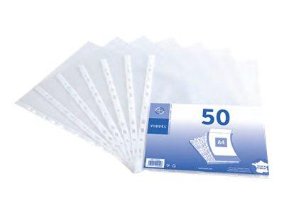 Viquel - 50 Pochettes perforées - A4 - 4/100