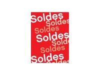 """APLI - Signe - 15 affiches - """"soldes"""" - pour les soldes - 690 x 240 mm"""
