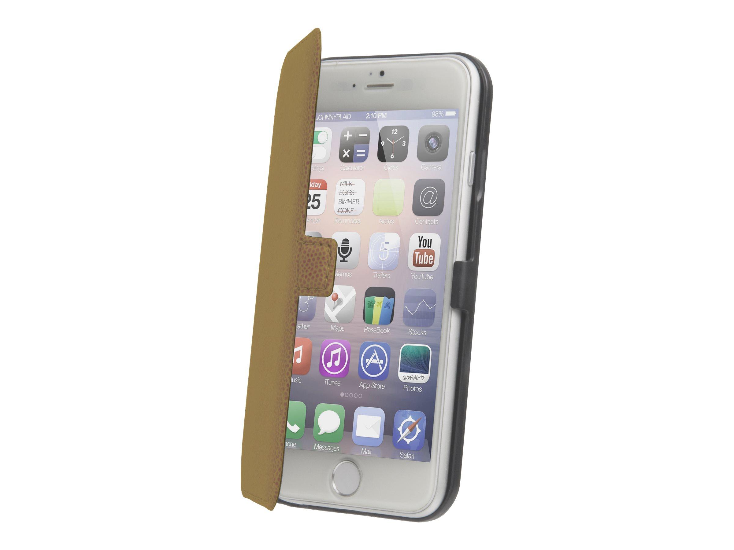 Muvit Made in Paris Slim Folio - Protection à rabat pour iPhone 6 Plus - brun
