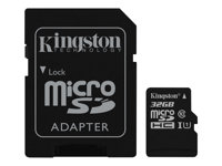 KNG microSDHC 32GB+SD Adapter Canvas 80R CL10 UHS-I Card