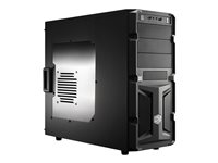 CoolerMaster, case miditower K350, ATX, black, USB3.0, průhl. bo