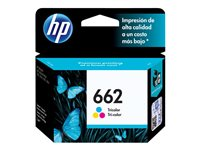 HP 662 - Color (dye-based cyan, dye-based magenta, dye-based yellow) - original