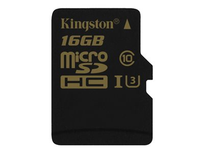 Kingston Gold - Paměťová karta flash - 16 GB - UHS-I U3 / Class10 - microSDHC UHS-I