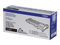Brother TN-660 - High Yield - black - original - toner cartridge - for Brother HL-L2300, L2305, L2315, L2320, L2340, L2360, L2380, MFC-L2680, L2685, L2707, L2720