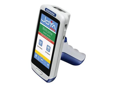 "Datalogic Joya Touch Plus - Data collection terminal - Win Embedded Compact 7 - 1 GB - 4.3"" color TFT (854 x 480) - barcode reader - (2D imager) - SD slot - Wi-Fi, NFC, Bluetooth - gray, blue - with 4 GB SD Memory Card"
