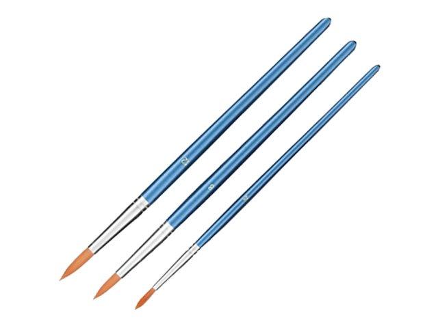 JPC - Set de 3 Pinceaux - ronds - taille : 4, 8, 12