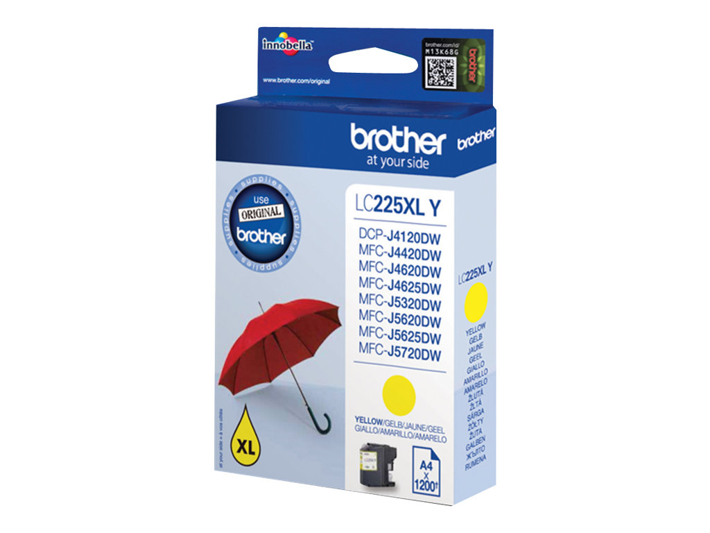 Brother LC225XLY - jaune - originale - cartouche d'encre