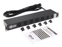 Tripp Lite Power Strip Rackmount Metal 120V 5-15R Right Angle 12 Outlet 1U - Unidad de distribución de alimentación (montaje en bastidor) - CA 120 V