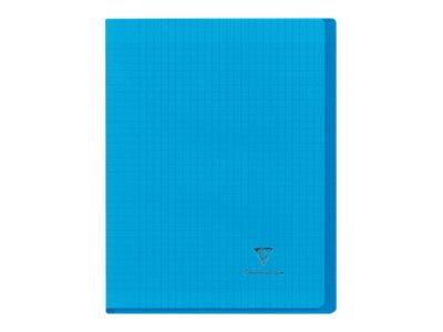 Clairefontaine Koverbook A4+ - Cahier - 24 x 32 cm - 48 feuilles / 96 pages - quadrillé - transparent, disponible dans différentes couleurs
