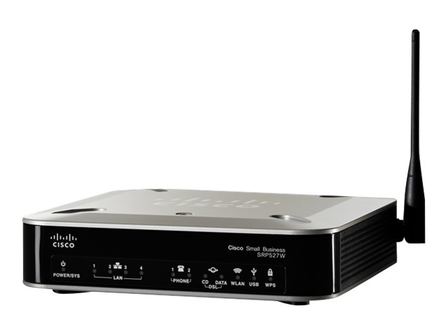 Image of Cisco Small Business SRP527W-U - wireless router - DSL modem - 802.11b/g/n - desktop