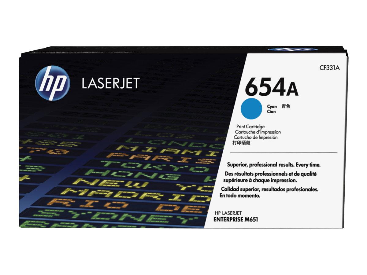 HP 654A - cyan - originale - LaserJet - cartouche de toner (CF331A)