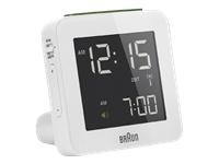 Braun BNC009 Alarmur kvadratisk kvarts desktop hvid