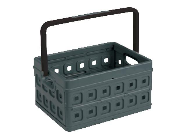 Sunware Square - Caisse pliante - 24 litres - noir, anthracite