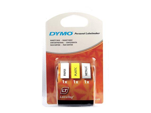 DYMO LetraTAG - kit de ruban-étiquette - 3 rouleau(x)