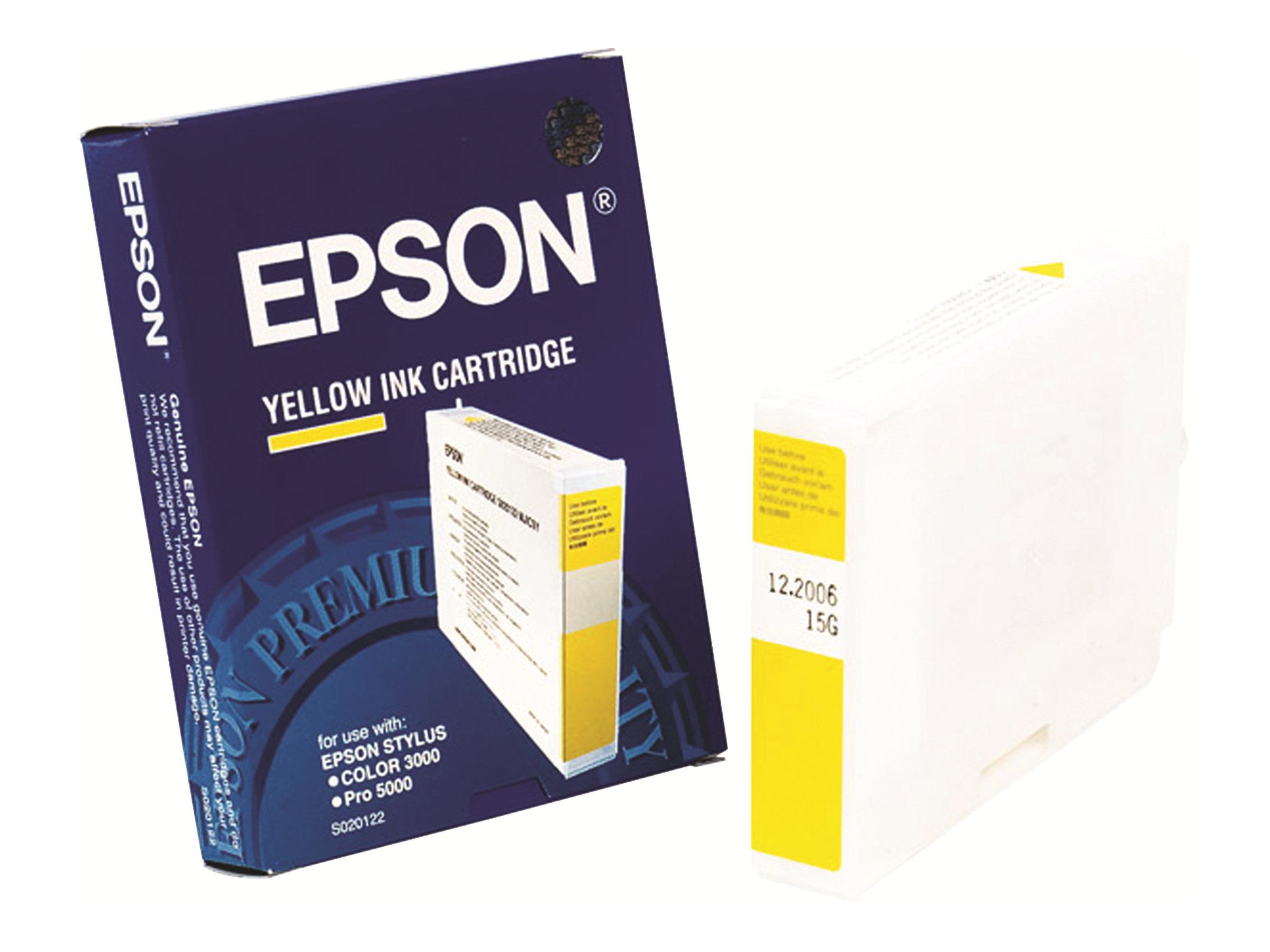 epson s020122 jaune originale cartouche d 39 encre epson. Black Bedroom Furniture Sets. Home Design Ideas