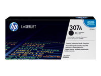 HP 307A - Black - original - LaserJet - toner cartridge (CE740A) - for Color LaserJet Professional CP5225, CP5225dn, CP5225n