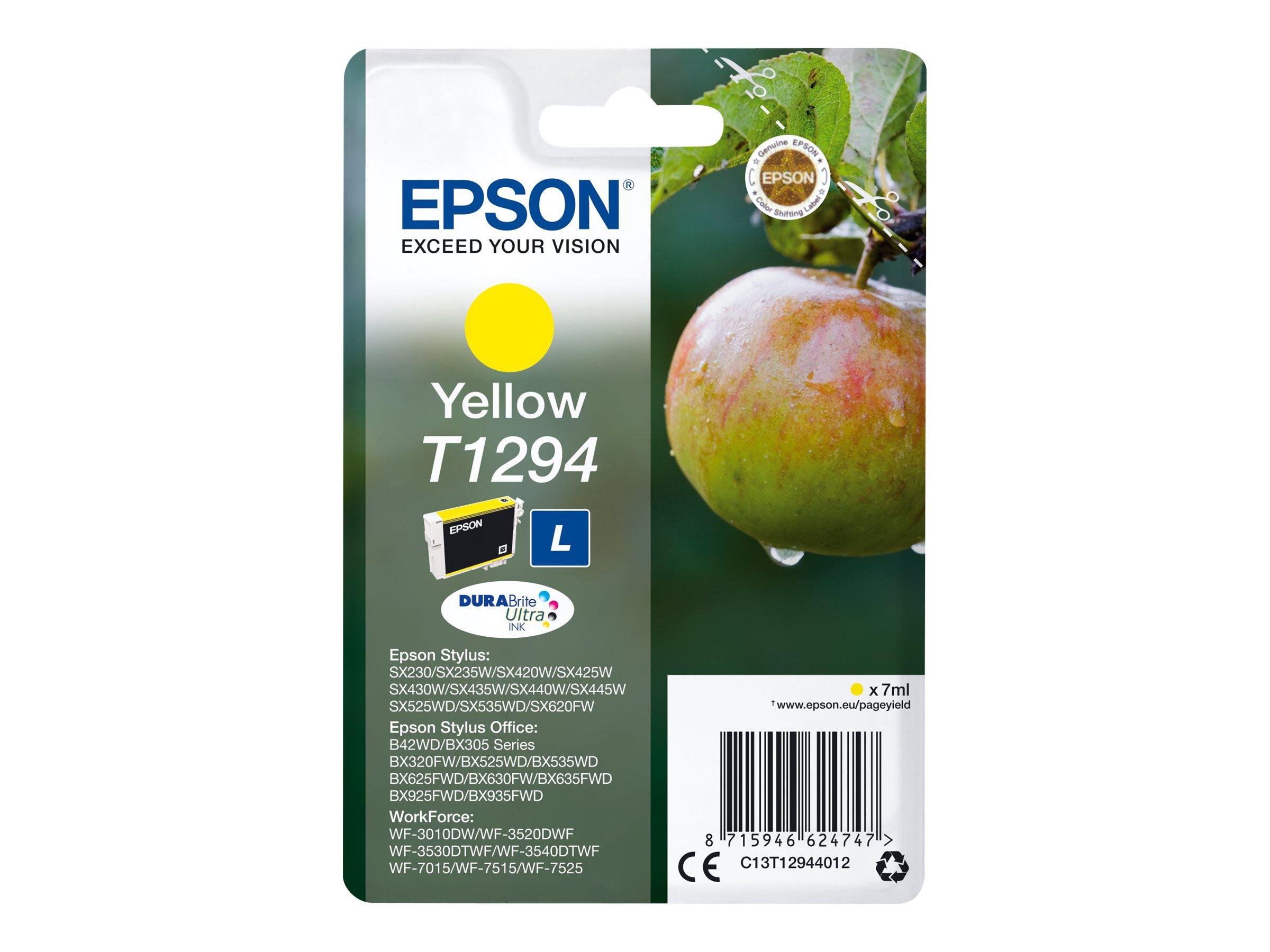 Epson T1294 - taille L - jaune - originale - cartouche d'encre
