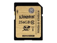 KINGSTON, 256GB SDXC Class 10 UHS-I 90R/45W Flash