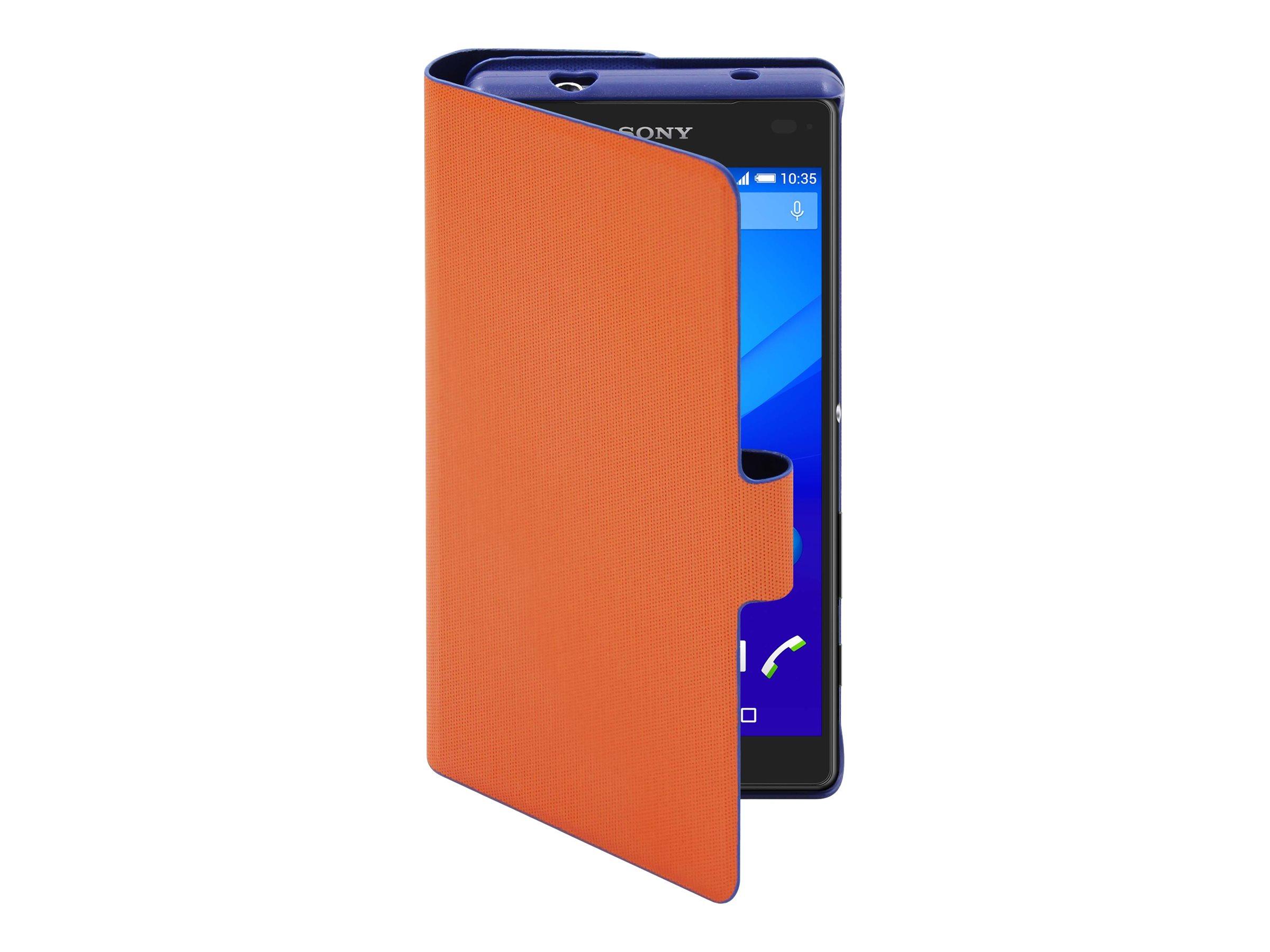 Muvit MFX Caméléon Folio - Protection à rabat pour Sony XPERIA Z5 Compact - bleu, orange