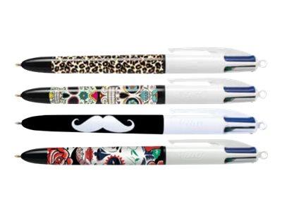 Bic 4 couleurs 40 stylos bille 4 couleurs noir rouge bleu vert 1 mm moyen - Bureau vallee courbevoie ...