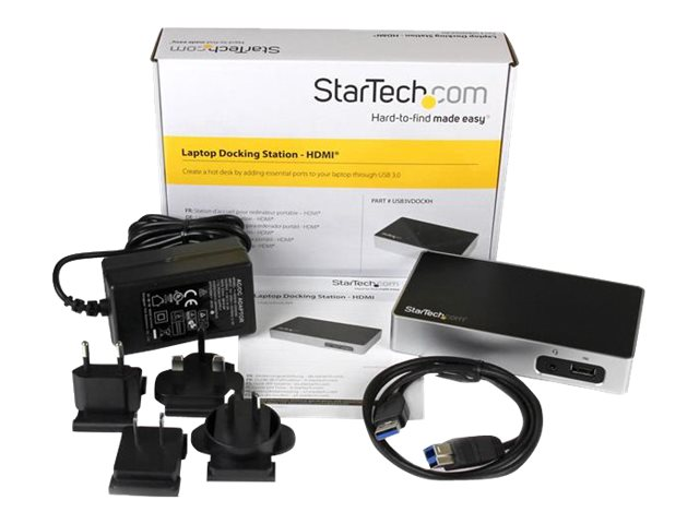 Image of StarTech.com HDMI Docking Station for Laptops - USB 3.0 - HDMI Laptop Dock - USB docking station