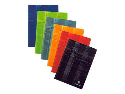 Clairefontaine - Cahier piqué - A4 - 192 pages - Grands carreaux - disponible dans différentes couleurs