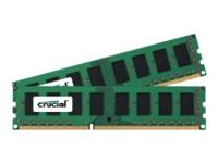 Crucial - DDR3 - 4 Go : 2 x 2 Go - DIMM 240 broches