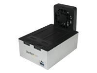 StarTech.com Station d'Accueil USB 3.0 2x SATA avec Hub USB et Ventilateur - Port Charge Rapide Integre et Support UASP - Noir