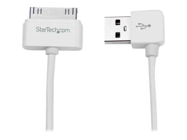 Image of StarTech.com 1m Apple 30-pin Dock to Right Angle USB Cable iPhone iPod iPad - iPad / iPhone / iPod charging / data cable - USB - 1 m
