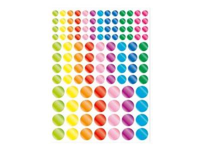 Oberthur Géométriques - 348 Gommettes - rond de couleurs métallisées