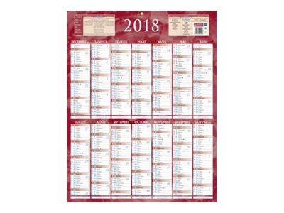 CBG rouge 222 - Calendrier 2017 - 7 mois par face - 385 x 540 mm
