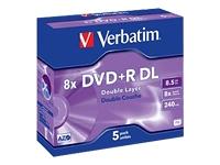 Verbatim - DVD+R DL x 5 - 8.5 Go - support de stockage