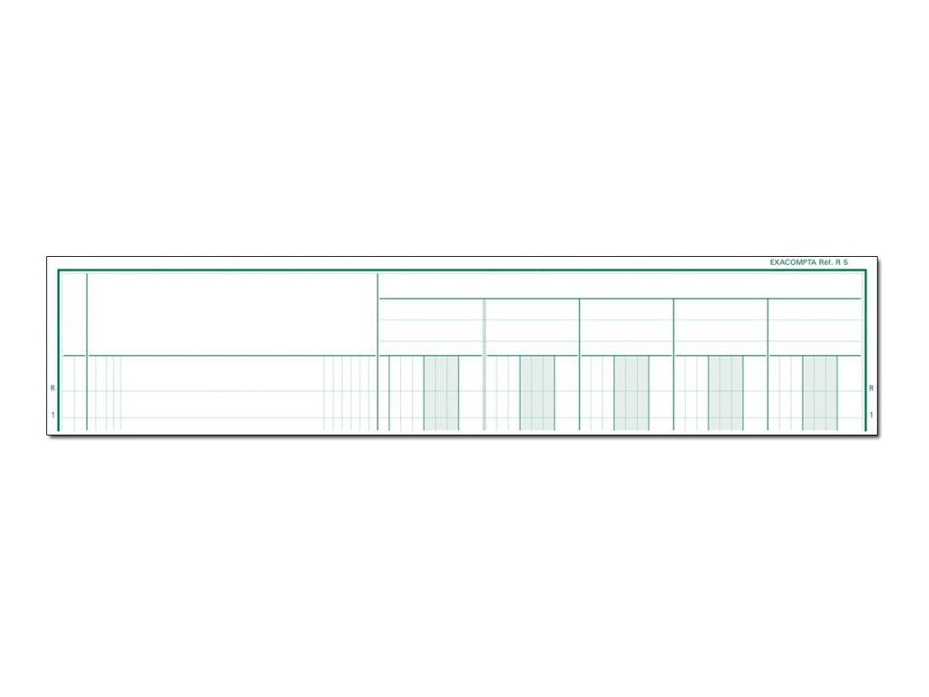 Exacompta R5 - livre à colonnes