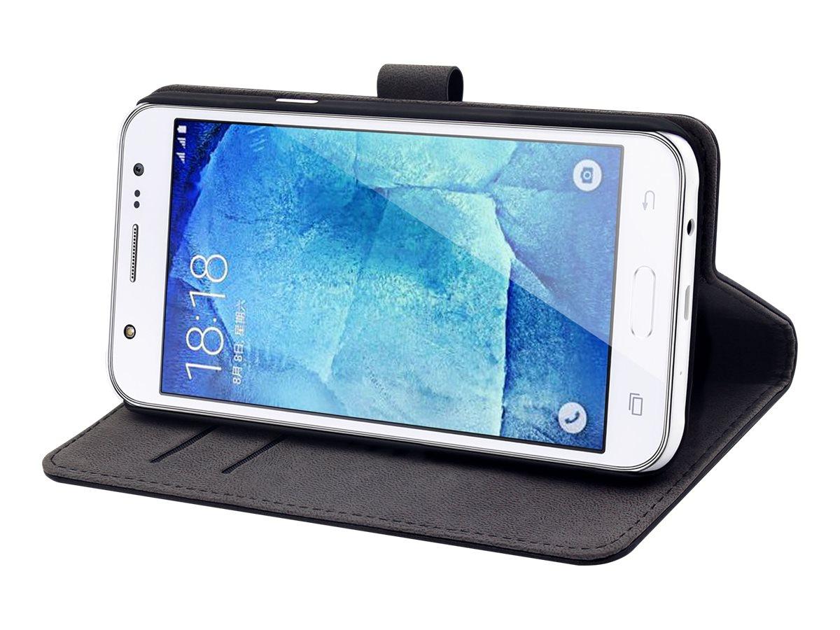 Muvit Slim S - Protection à rabat pour Samsung Galaxy J5 - noir
