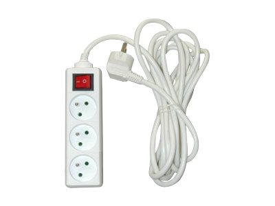 Safetool - Bloc multiprises - avec interrupteur - 3 prises + cable 4 m
