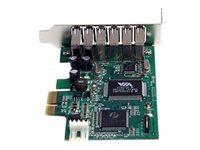StarTech.com Carte Adaptateur PCI Express vers 7 Ports USB 2.0 - Carte PCIe Interne Externe