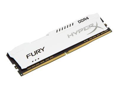 Kingston HyperX FURY - DDR4 - 32 GB: 4 x 8 GB - DIMM 288-pin - 2133 MHz / PC4-17000 - CL14 - 1.2 V - bez vyrovnávací paměti - bez ECC - bílá