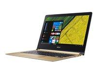 """Acer Swift 7 SF713-51-M90J - Core i5 7Y54 / 1.2 GHz - Win 10 Home 64-bit - 8 GB RAM - 256 GB SSD - 13.3"""" IPS 1920 x 1080 (Full HD) - HD Graphics 615 - Wi-Fi - black, gold - kbd: US International"""