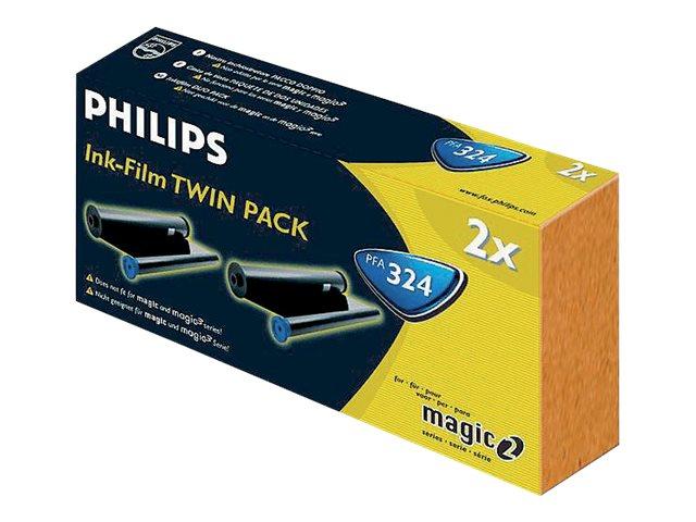 Philips PFA 324 - pack de 2 - noir - recharge ruban d'encre d'imprimante (transfert thermique)