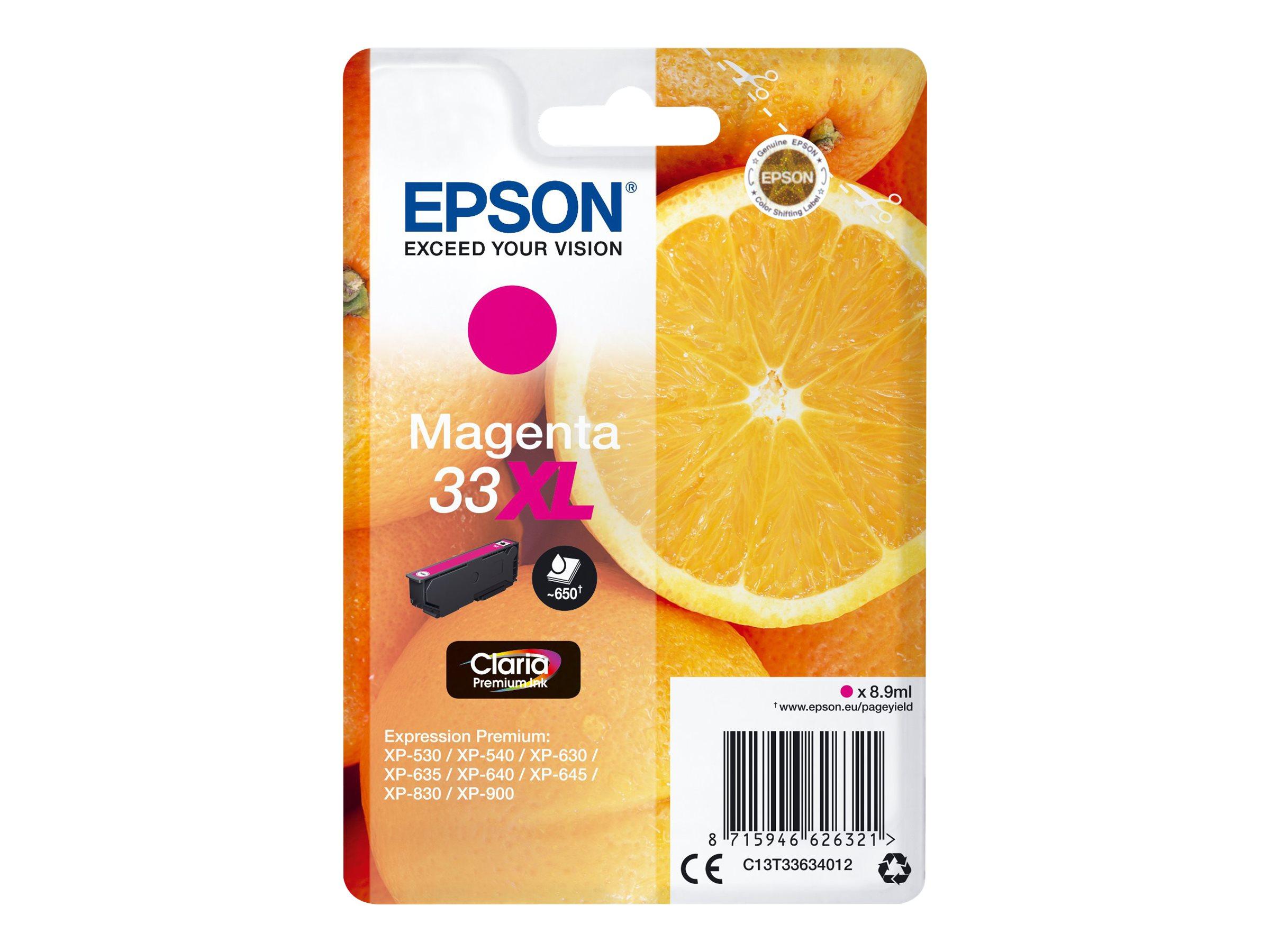 Epson T33XL - oranges - haute capacité - magenta - originale - cartouche d'encre